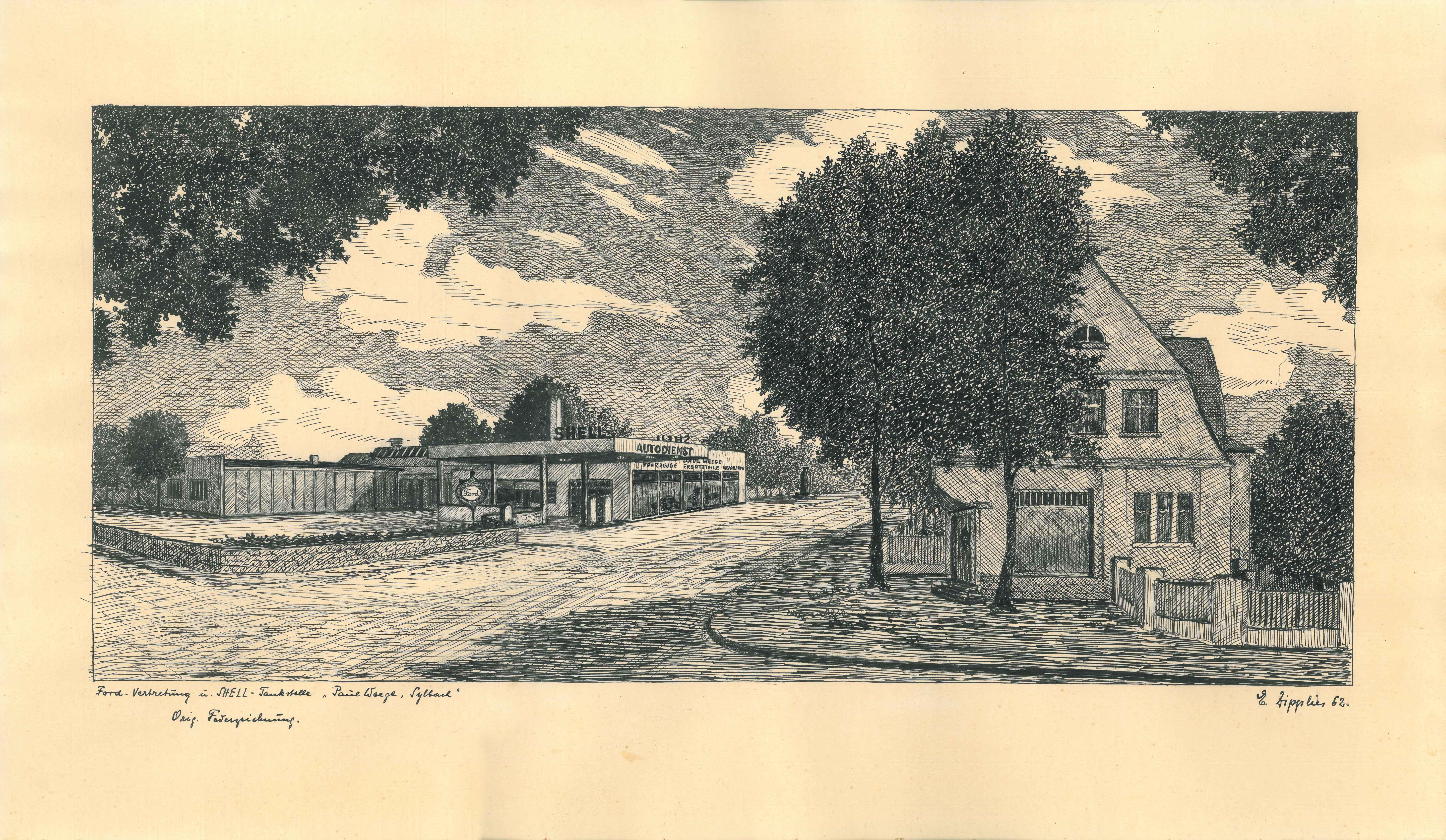1960 Tankstelle